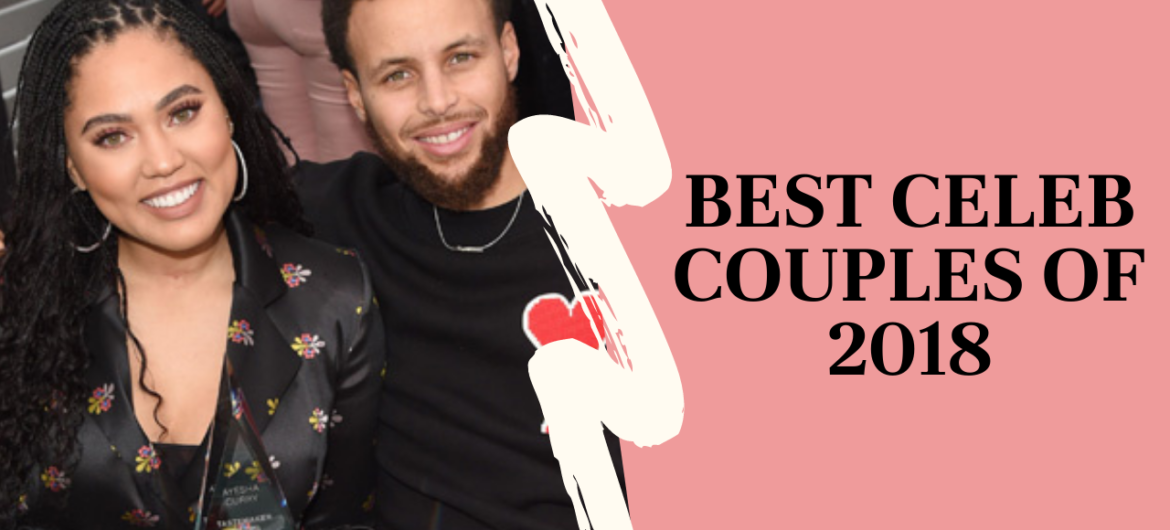 """Photo of Stephen and Ayesha Curry separated by a squiggle, with the title """"Best Celeb Couples of 2018,"""" Website name """"www.KaylaAlexandria.com"""""""